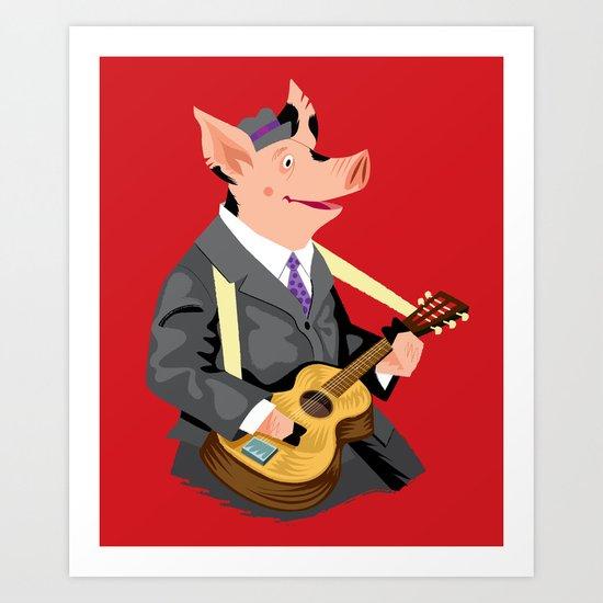 Smokey Hog Mcghee Art Print