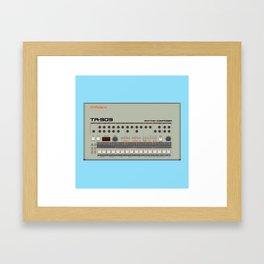 909 Square Framed Art Print