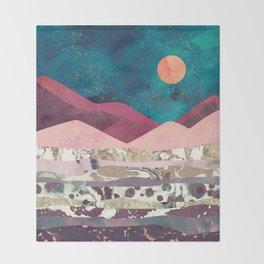 Magenta Mountain Throw Blanket