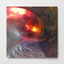 Flaming Seashell 5 Metal Print
