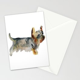 Watercolor image of dog Stationery Cards