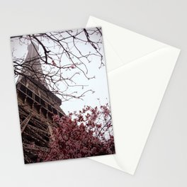 Eiffel Tower in Spring Stationery Cards