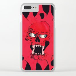 Blood Skull Clear iPhone Case