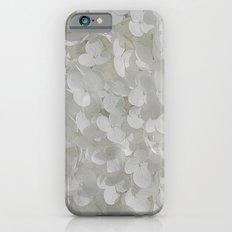 White Hydrangea Slim Case iPhone 6