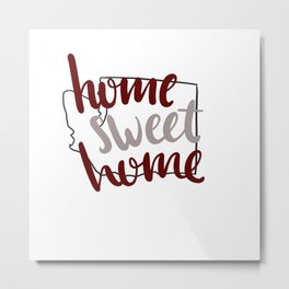 Home Sweet Home-WSU Metal Print