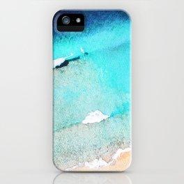 Beach Watercolour iPhone Case