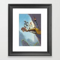 Yellow brick road Framed Art Print