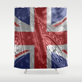 Big Ben - UK Flag Shower Curtain
