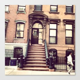 Brooklyn Brownstones Canvas Print