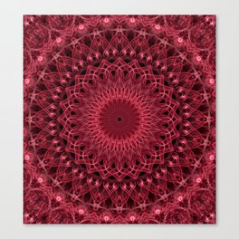 Dark pink mandala Canvas Print