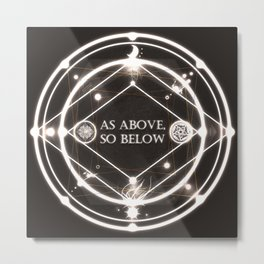 As Above, So Below Metal Print