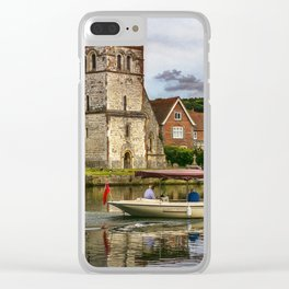 On The Thames At Bisham Clear iPhone Case