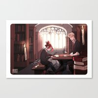 library Canvas Prints featuring Library by Galaxyspeaking