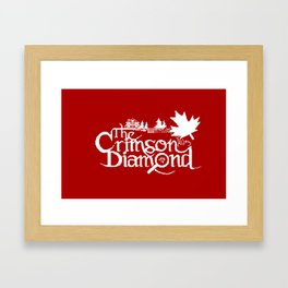 The Crimson Diamond monochromatic logo Framed Art Print