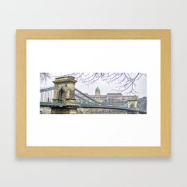 Chain Bridge. Framed Art Print