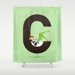 Carla & Din Shower Curtain