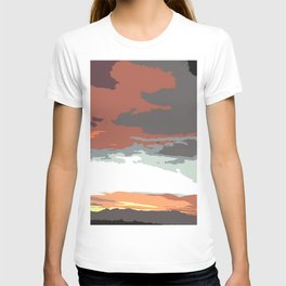 Boulder Colorado viewed from Denver Colorado T-shirt