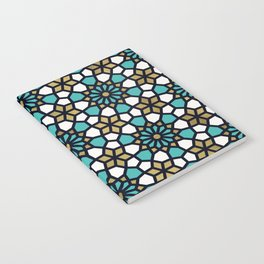 Persian Mosaic – Turquoise & Gold Palette Notebook