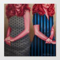 karen hallion Canvas Prints featuring Mel & Karen by Kevin Thomas