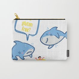 Funny Shark Is It Gluten Free T-Shirt Carry-All Pouch