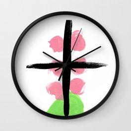 Bright abstract cross Wall Clock