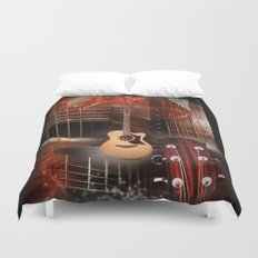 The Acoustic Guitar  Duvet Cover