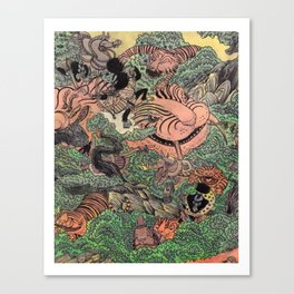 Mu Guai and the Tiger's Eye, Panel 6 Canvas Print