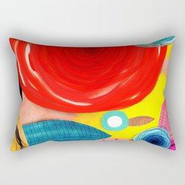 Glück kann man trainieren - Rupydetequila ultimative Farben Rectangular Pillow