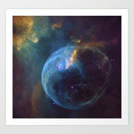 Bubble Nebula Astronomy Art Print