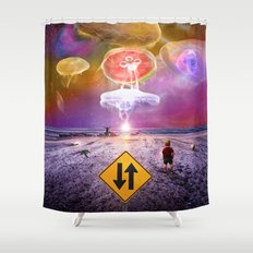 The Day of the Jellies Shower Curtain