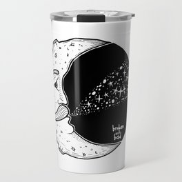 The Moon Blowing Stars Travel Mug