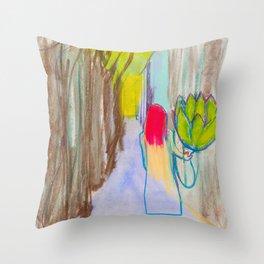 Artichoking Throw Pillow