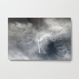 Plane Trails Metal Print