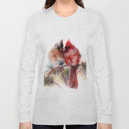 Cardinal Birds Couple Long Sleeve T-shirt