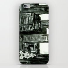 Black and White Philly Skyline iPhone & iPod Skin
