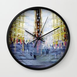 in a day how many breaths intertwine with thoughts Wall Clock