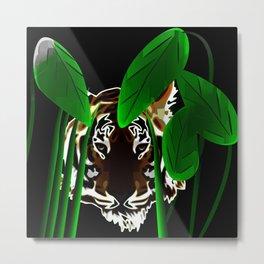 Tiger In the Night Metal Print