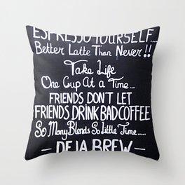 Coffeeology Throw Pillow