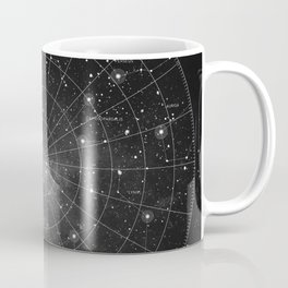 Constellation Star Map (B&W) Coffee Mug