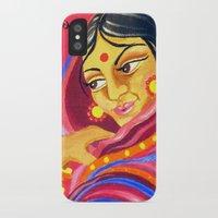 hindu iPhone & iPod Cases featuring Hindu Woman by IlyLilyArt