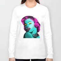 rowing Long Sleeve T-shirts featuring Marilyn by mark ashkenazi