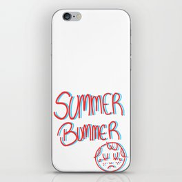 Summer Bummer iPhone Skin