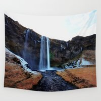 waterfall Wall Tapestries featuring Waterfall by EclipseLio