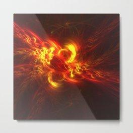 Fractal Flame Explosion Metal Print