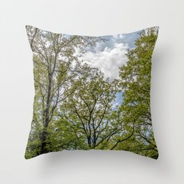 A day in the forest Throw Pillow