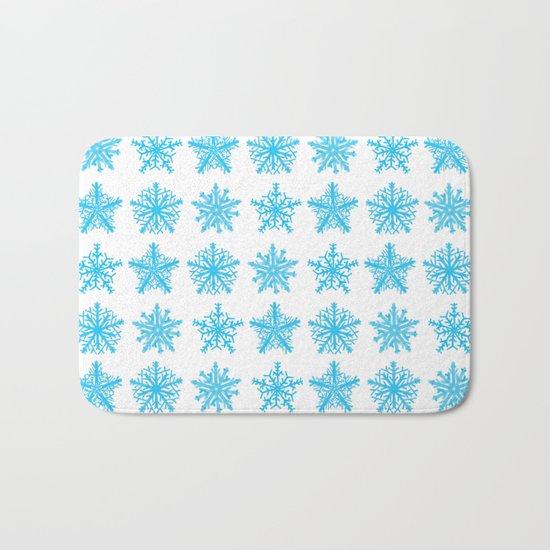 Sky Blue Star Pattern Bath Mat