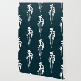 Calla Lily - Navy Wallpaper