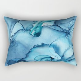 The Blue Abyss - Alcohol Ink Painting Rectangular Pillow