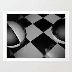 Checker Balls. Art Print