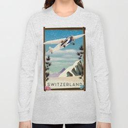 Switzerland travel poster Long Sleeve T-shirt